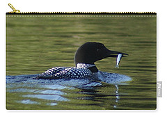 Loon With Minnow Carry-all Pouch by Steven Clipperton