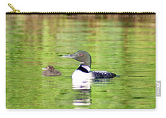Loons Big And Small Carry-all Pouch by Steven Clipperton