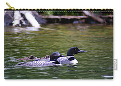 Loons With Twins 4 Carry-all Pouch