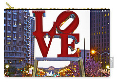Carry-all Pouch featuring the photograph Love In Philadelphia by Alice Gipson