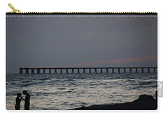 Love On The Beach Carry-all Pouch by Paul  Wilford