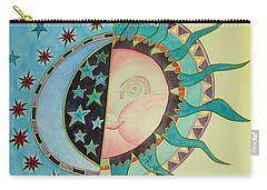 Carry-all Pouch featuring the painting Love You Day And Night by Anna Ruzsan