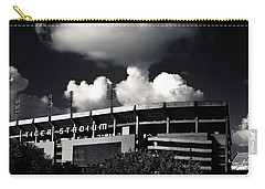 Lsu Tiger Stadium Black And White Carry-all Pouch