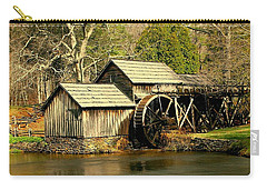 Carry-all Pouch featuring the photograph Mabry Mill In Winter by Myrna Bradshaw
