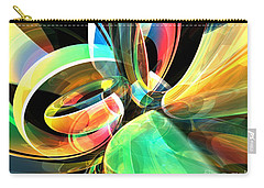Carry-all Pouch featuring the digital art Magic Rings by Phil Perkins