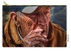 Man Smoking Carry-all Pouch