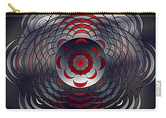 Carry-all Pouch featuring the digital art Mandala Water Reflections by Mario Carini