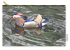 Carry-all Pouch featuring the photograph Mandarin Duck  by Lydia Holly