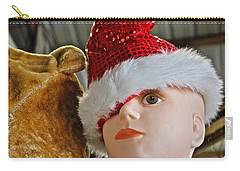 Carry-all Pouch featuring the photograph Manniquin Santa 2 by Bill Owen