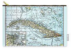 Map Of Cuba Carry-all Pouch