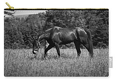 Carry-all Pouch featuring the photograph Mare In Field by Davandra Cribbie