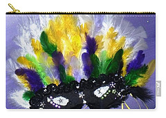 Carry-all Pouch featuring the painting Masque Over Bourbon Street by Alys Caviness-Gober