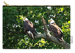 Carry-all Pouch featuring the photograph Mating Pair by Randall Branham