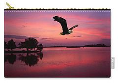 Carry-all Pouch featuring the photograph Mauve Sundown Eagle  by Randall Branham