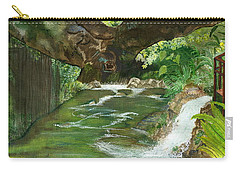 Carry-all Pouch featuring the painting Maya Ubud Tree Bali Indonesia by Melly Terpening