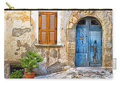Mediterranean Door Window And Vase Carry-all Pouch