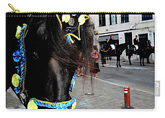 Carry-all Pouch featuring the photograph Menorca Horse 1 by Pedro Cardona