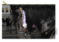 Carry-all Pouch featuring the photograph Menorca Horse 2 by Pedro Cardona