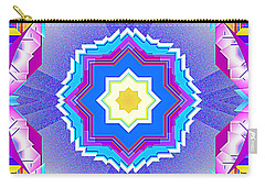 Carry-all Pouch featuring the digital art Miami Sunsets by Mario Carini