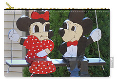 Mickey And Minnie Mouse Carry-all Pouch
