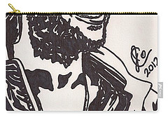 Carry-all Pouch featuring the drawing Mickey by Jeremiah Colley