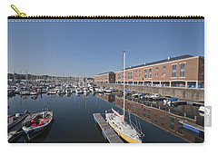 Carry-all Pouch featuring the photograph Milford Haven Marina 3 by Steve Purnell