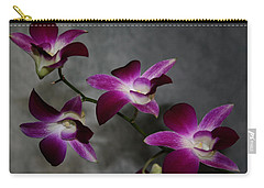 Miniature Orchids Carry-all Pouch by Karen Harrison