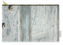 Carry-all Pouch featuring the photograph Minimalism With Two Bolts by Lenore Senior