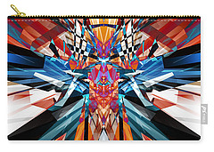 Carry-all Pouch featuring the digital art Mirror Image Abstract by Phil Perkins