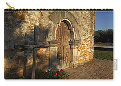 Carry-all Pouch featuring the photograph Mission Espada by Susan Rovira