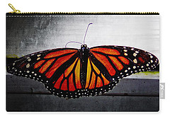 Carry-all Pouch featuring the photograph Monarch by Julia Wilcox