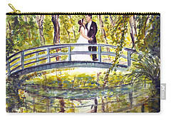 Carry-all Pouch featuring the painting Monet Wedding by Clara Sue Beym