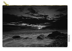 Monochrome Sunset  Carry-all Pouch by Beverly Cash