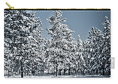 Carry-all Pouch featuring the photograph Montana Christmas by Janie Johnson