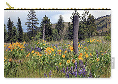 Montana Wildflowers Carry-all Pouch by Athena Mckinzie