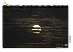 Carry-all Pouch featuring the photograph Moon Behind The Clouds by William Norton