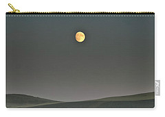 Carry-all Pouch featuring the photograph Moon Over The Palouse by Albert Seger