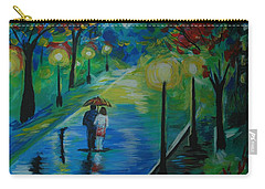 Moonlight Stroll Series 1 Carry-all Pouch by Leslie Allen