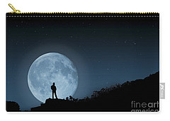 Carry-all Pouch featuring the photograph Moonlit Solitude by Steve Purnell