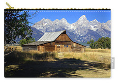Carry-all Pouch featuring the photograph Mormon Row Barn by Marty Koch