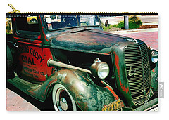 Carry-all Pouch featuring the photograph Morning Glory Coal Truck by Nina Prommer