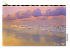 Carry-all Pouch featuring the photograph Morning On The Beach  by Lydia Holly