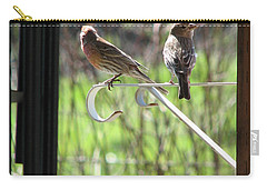 Carry-all Pouch featuring the photograph Morning Visitors by Rory Sagner
