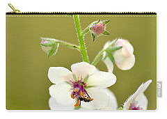 Carry-all Pouch featuring the photograph Moth Mullein by JD Grimes