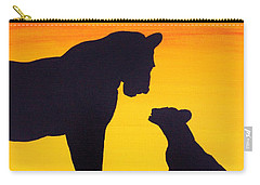 Carry-all Pouch featuring the painting Mother Africa 3 by Michael Cross
