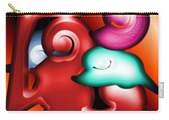 Carry-all Pouch featuring the digital art Mother And Child by George Pedro