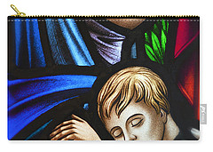 Mother And Child Stained Glass Carry-all Pouch