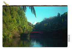 Carry-all Pouch featuring the photograph Mount Taranaki Aka Mt Egmont New Zealand by Mark Dodd