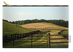 Mountain Farmland Carry-all Pouch by Karen Harrison