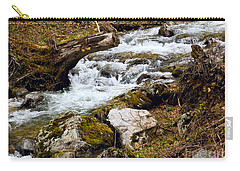 Carry-all Pouch featuring the photograph Mountain Stream by Les Palenik